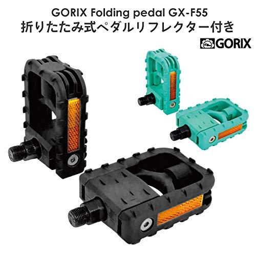 GORIX bicycle pedal folding Bianchi Celeste /& Black color flat pedal VP-F55 NEW